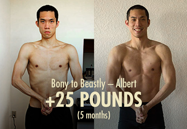 Albert's 25 Pound Skinny Guy Transformation