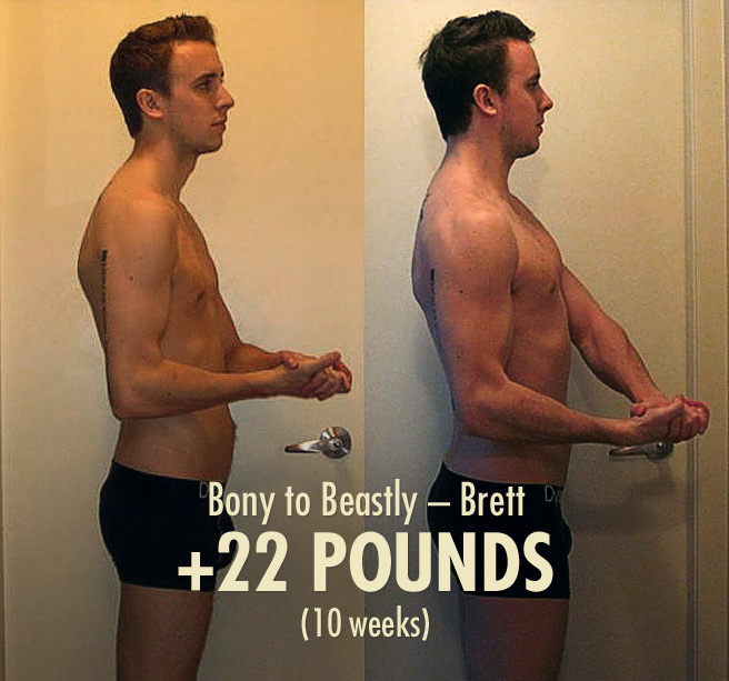 Brett 22 Muscle building bulking Transformation  progress photos