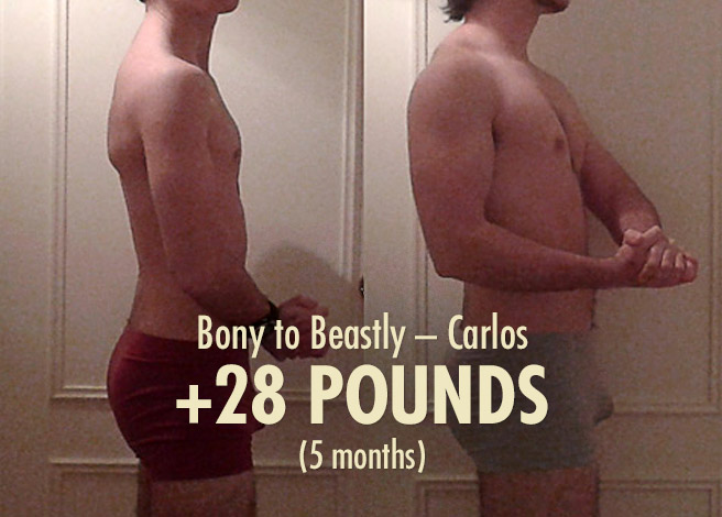 Carlos' 28 Pound Skinny Guy Transformation