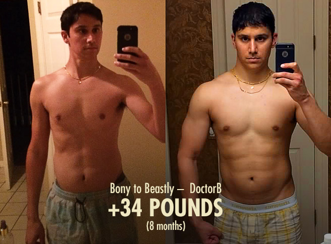 DoctorB Hardgainer Ectomorph Skinny Guy Bulking Transformation