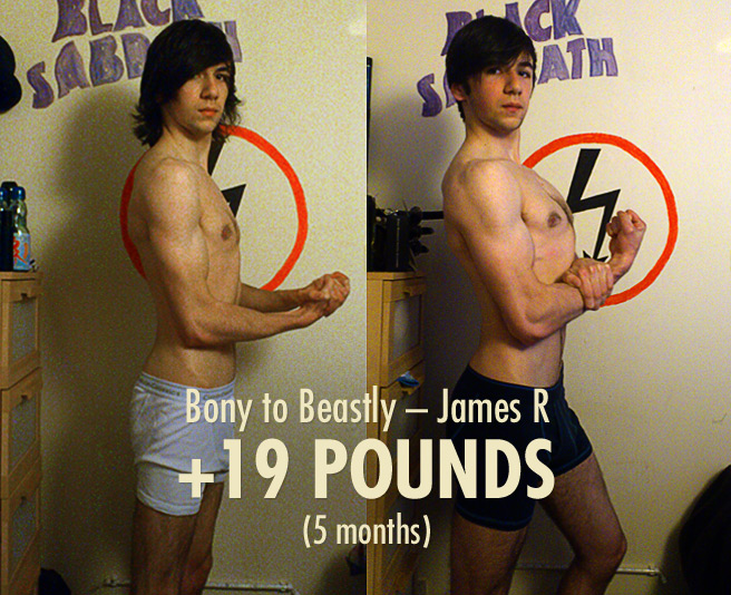 James' 19 Pound Skinny Guy Transformation