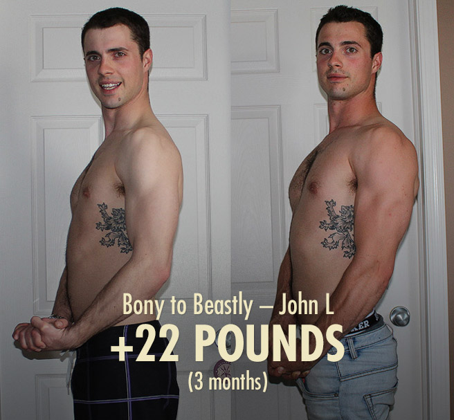 John intermediate ectomorph bulking transformation before after photos
