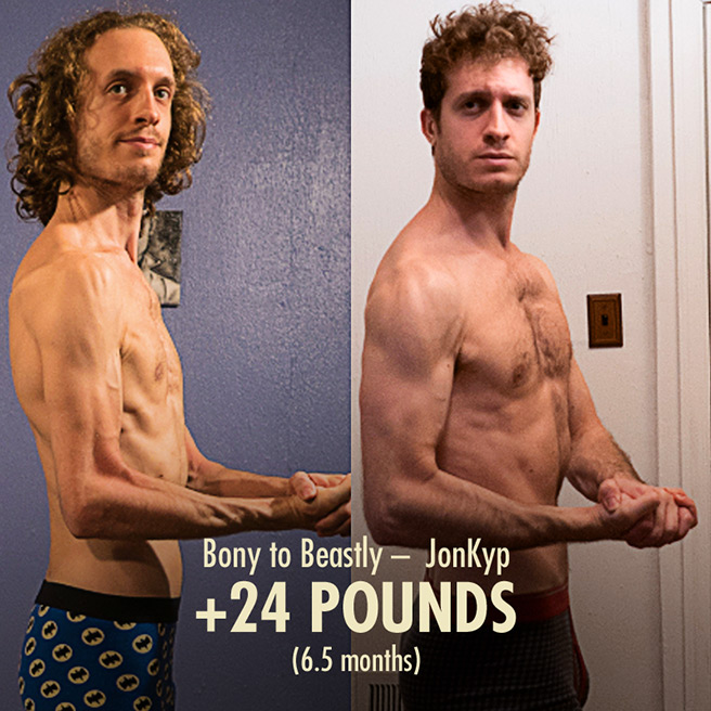 Jon Skinny Guy Bulking Muscle Gain Transformation