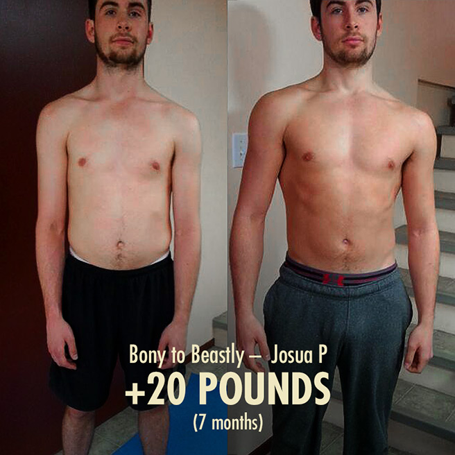 Josua's 20 Pound Skinny Guy Transformation