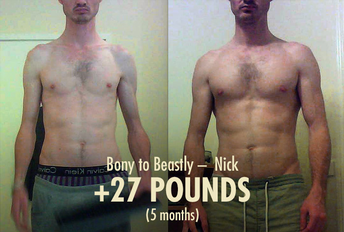 Nicks Bony to Beastly Ectomorph Transformation