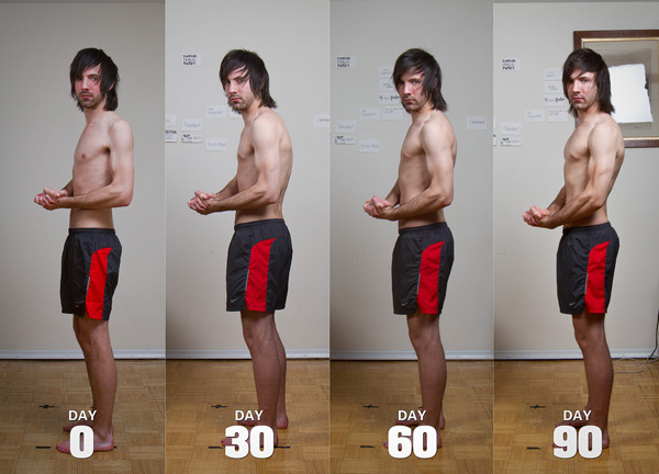 Jared Polowick skinny to muscular progress photos (ectomorph bulking before and after)