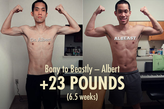Albert's Bony to Beastly Ectomorph Transformation