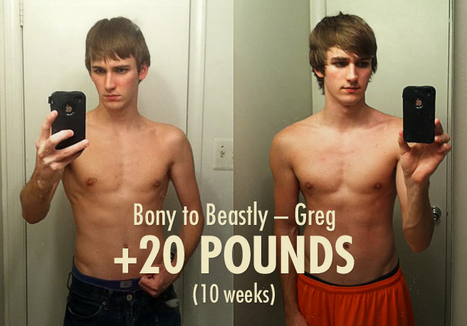 Greg's Bony to Beastly Skinny Muscle-building Ectomorph Transformation