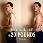Jeff, one of earliest members, pulling out a 20-pound gain in just 10 weeks. This inspired his naturally skinny wife, Aypril, who encouraged us to make the Bony to Bombshell program, where she went on to have her own success.