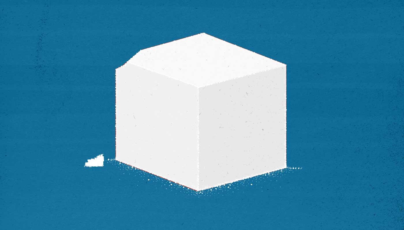 Illustration of a sugar cube