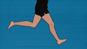 Skinny Guy Jogging Illustration