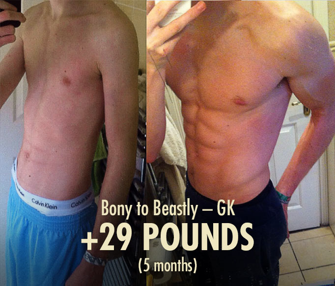 Ideal Male Body—Bony to Beastly Ectomorph Transformation