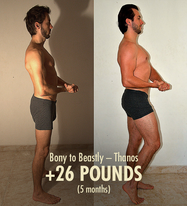 Ideal Male Body—Thanos' Bony to Beastly Ectomorph Transformation