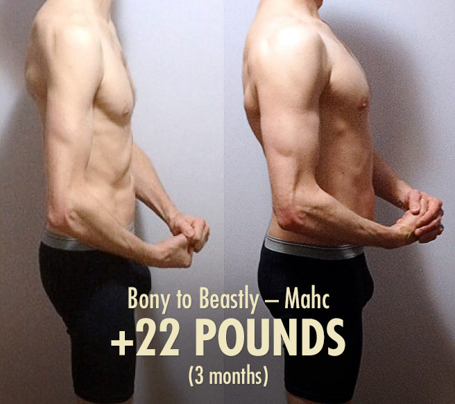 Bony to Beastly – Ectomorph transformation (before and after)