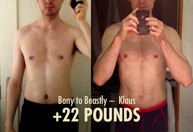 Skinny-fat to lean and muscular transformation before and after photo