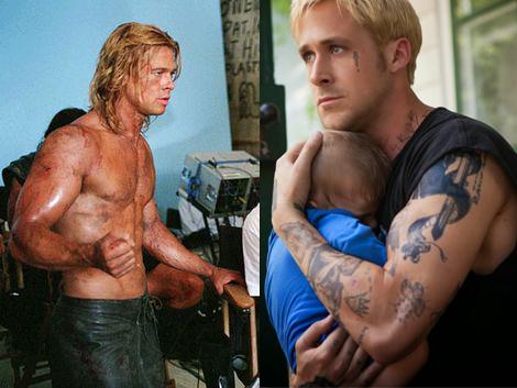 Brad Pitt & Ryan Gosling Hardgainer / Ectomorph Muscle Belly Genetics