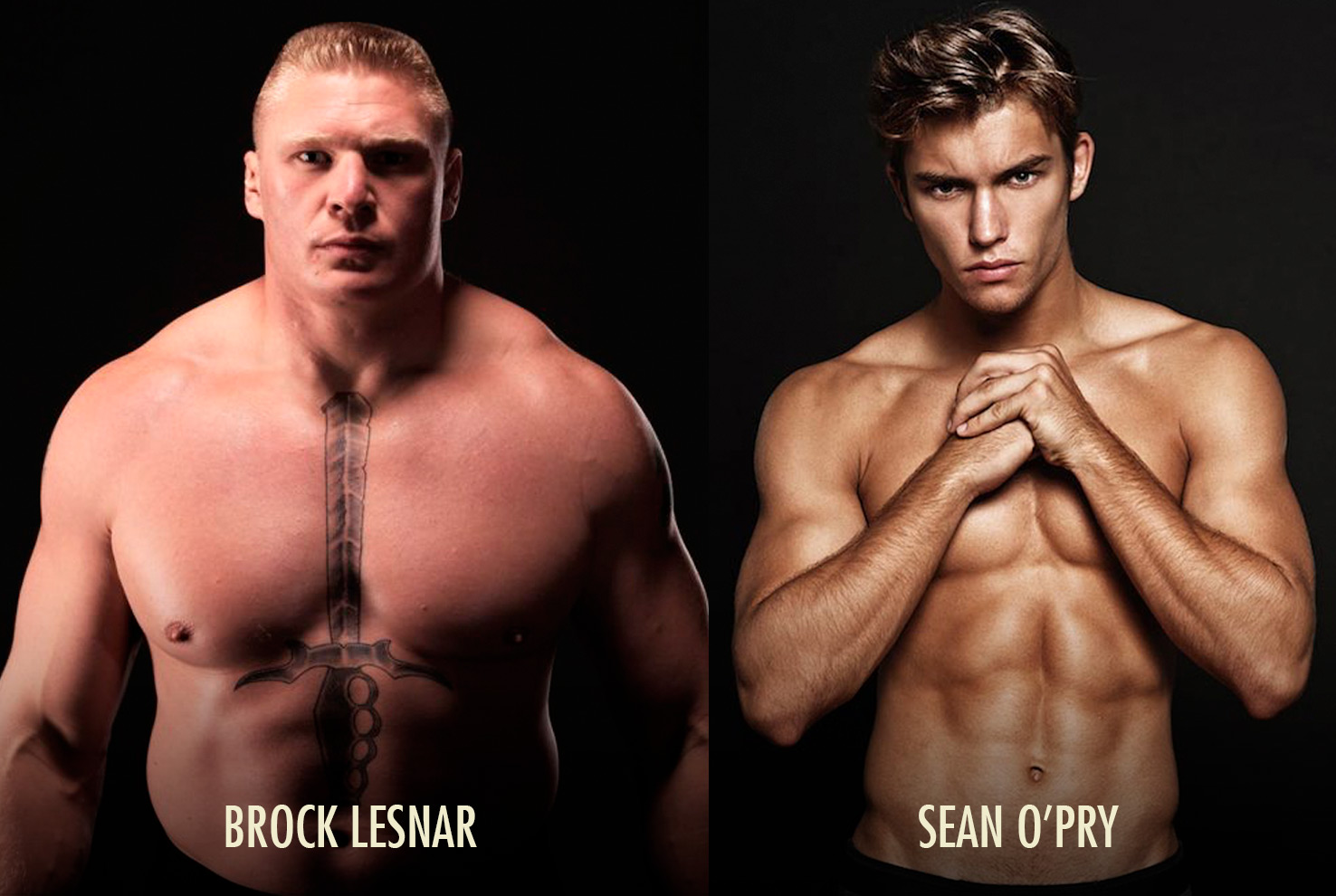 Ectomorph Muscle-Building Genetics Brock Lesnar Body vs Sean O'Pry