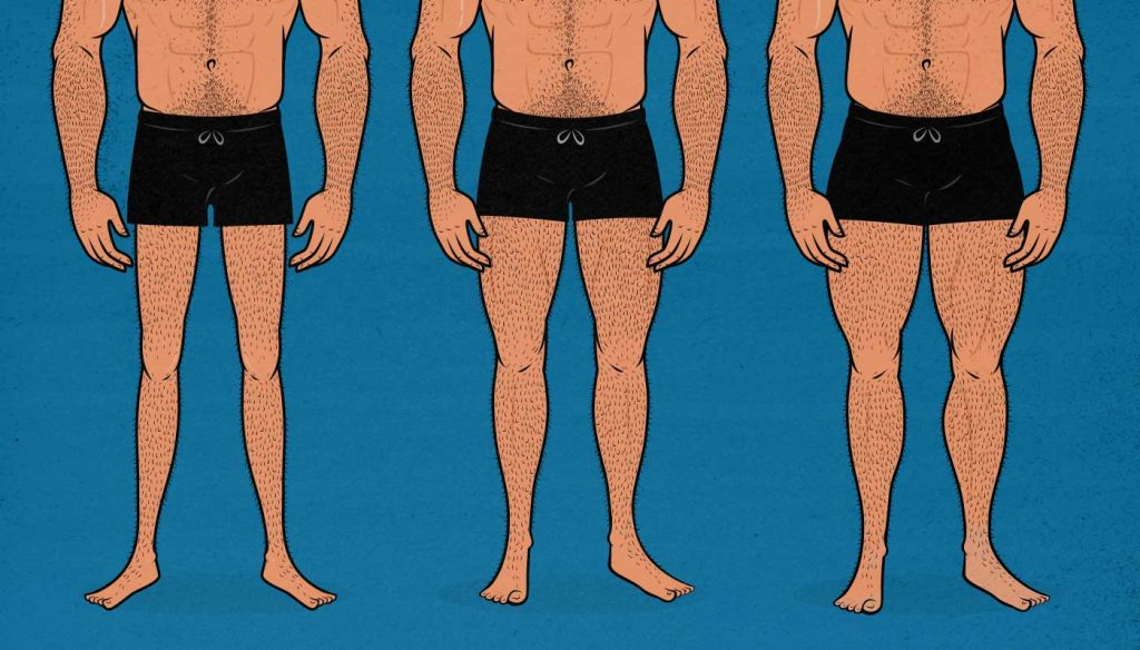 How Big Should Men Build Their Legs Bony To Beastly