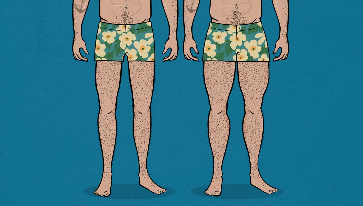 How big should your legs be in order to have attractive upper body and lower body proportions? Can big legs make you look disproportionate? Can your legs look too big?