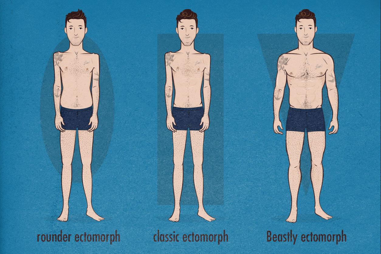 Skinny-Fat Ectomorph, Skinny Ectomorph, And Ripped Ectomorph