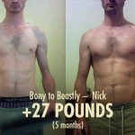 Nick gaining 27 pounds in just 5 months while maintaining a low body fat percentage. Lean gains for the win!