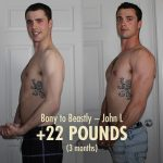 "John L's intermediate ectomorph transformation, going from a ""fit"" physique to a very strong one."