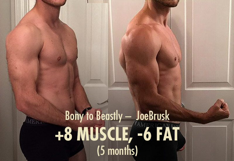JoeBrusk coming in as a seasoned lifter, and showing that it's still possible to make rapid gains. (Although not AS rapid as a beginner can.)