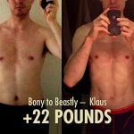 "Klaus coming in with more of a ""skinny-fat"" physique and finishing far heavier and with sub-10% body fat."