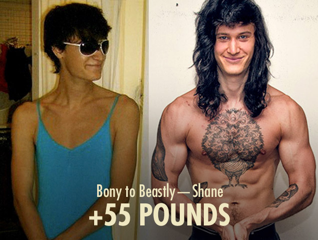 Shane Duquette skinny to muscular transformation (ectomorph bulking before and after photos)