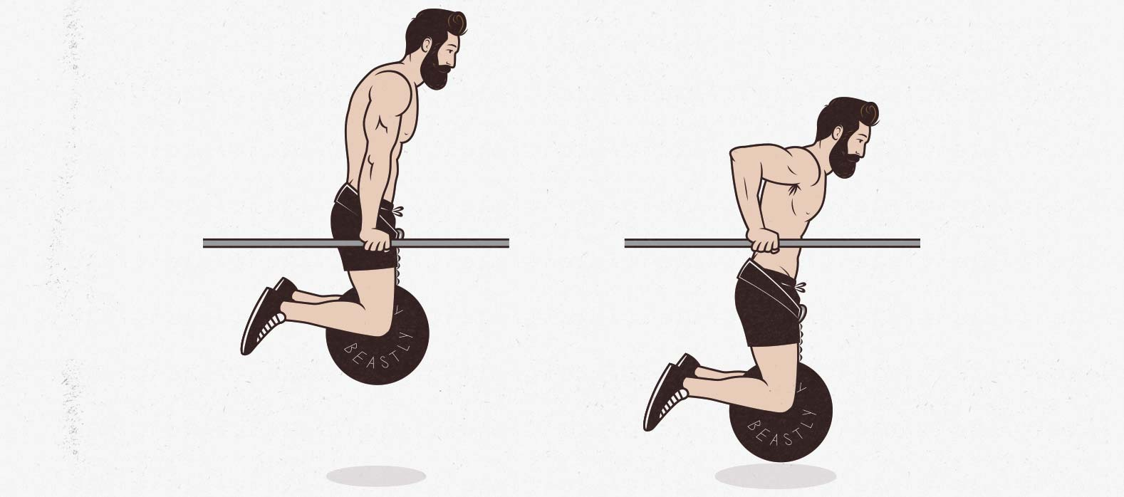 The weighted dip lower chest exercise