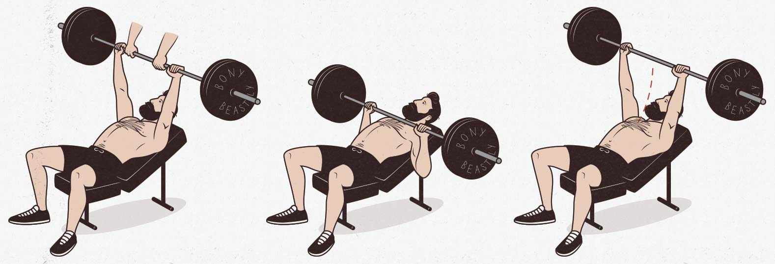 The incline barbell bench press upper chest exercise