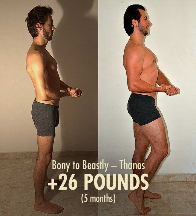Thanos Bony to Beastly Skinny Ectomorph Hardgainer Lean Bulking Transformation Before After Photos