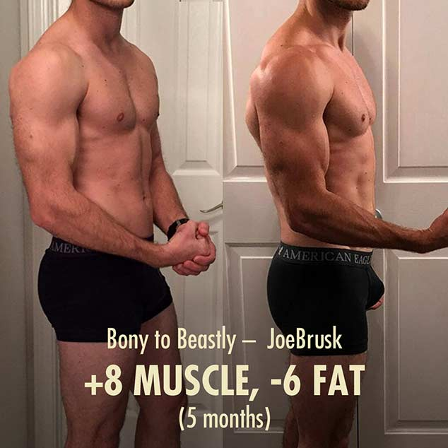 JoeBrusks Bony to Beastly Advanced Lean Gains Bulking Transformation
