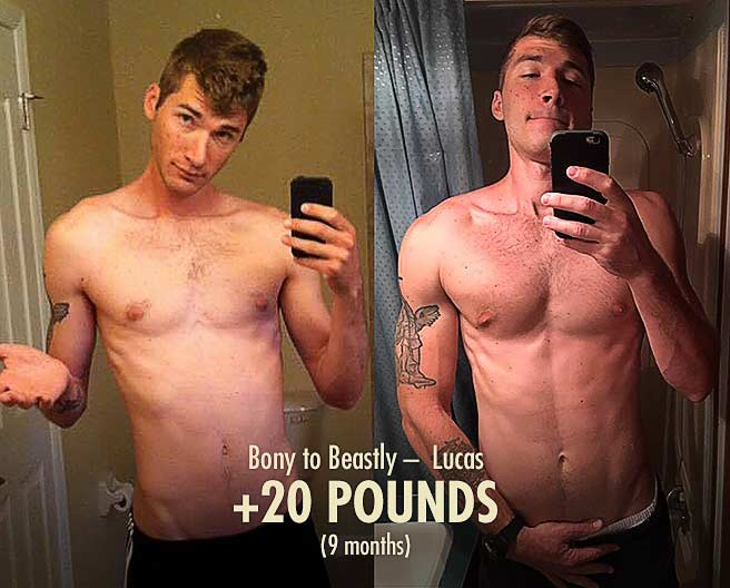 Lucas Lean Gain Muscle Transformation Before After Progress Photos