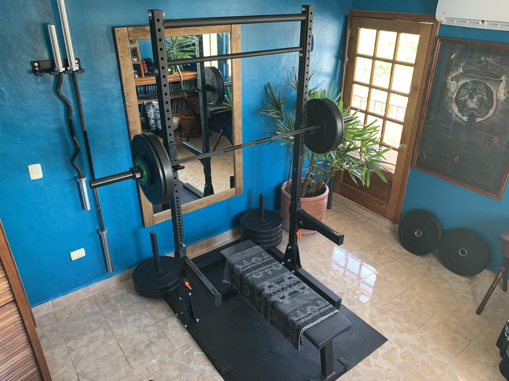 A picture of my home gym