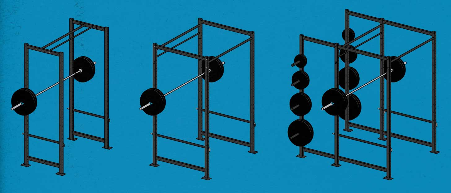 If you're trying to build muscle, bulk up, what's the best rack to buy for your simple barbell home gym?