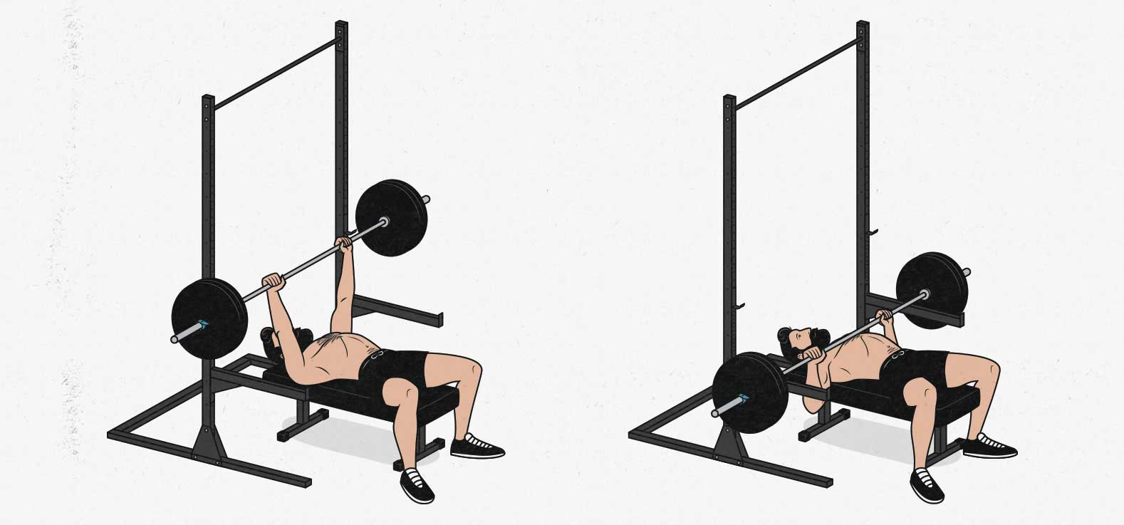How to bench press safely in a barbell home gym without a spotter using a squat stand or power cage