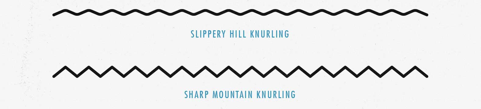 Hill knurling makes the barbell hard to grip, whereas mountain knurling is hard and digs into your hands while lifting