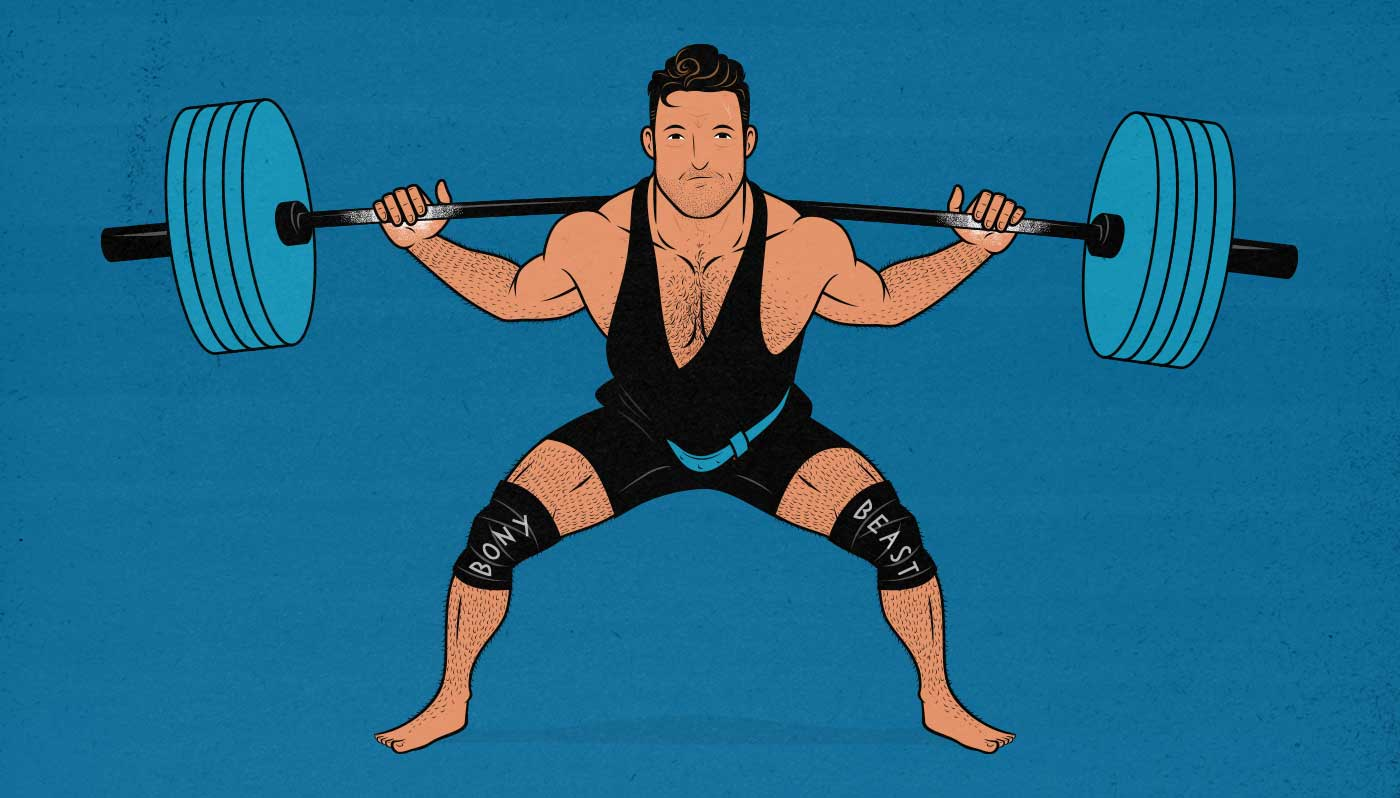 Illustration of a powerlifter doing strength training.