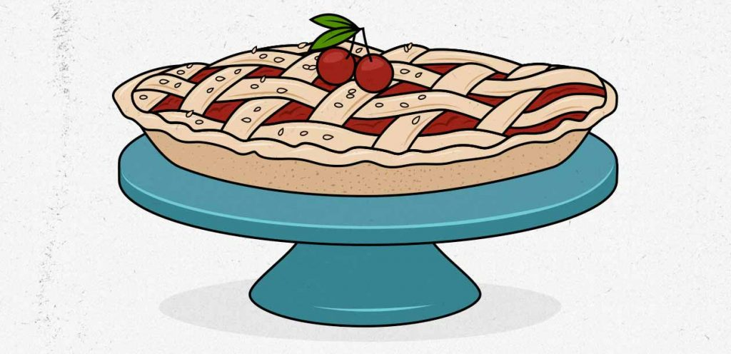Illustration of a cherry pie