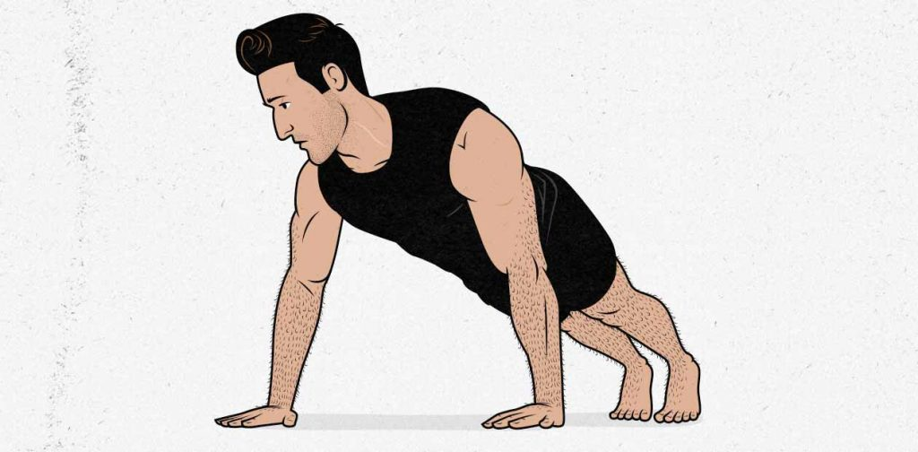 Illustration of a man doing a push-up