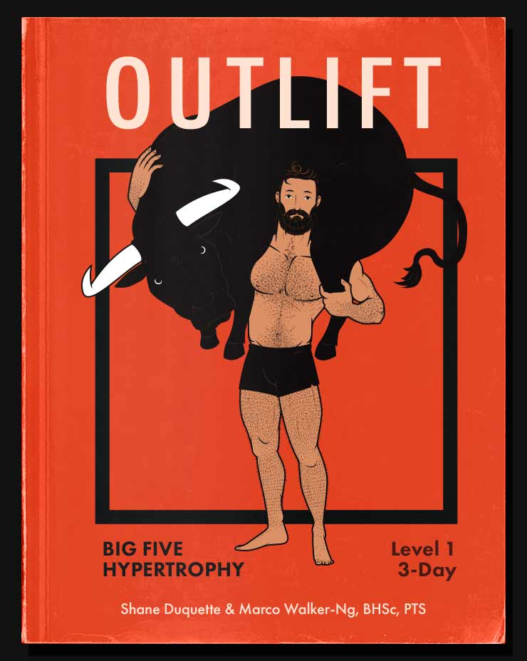 Illustration of the Outlift Intermediate Hypertrophy Program cover