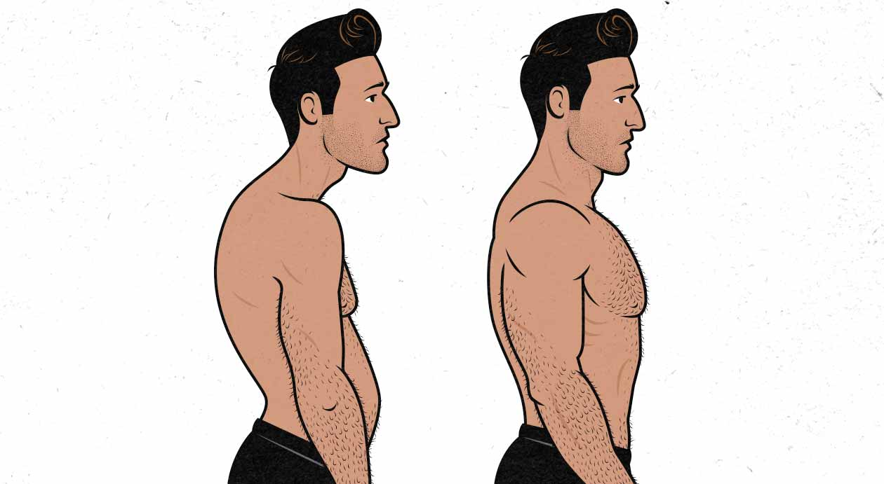 Illustration of proper posture
