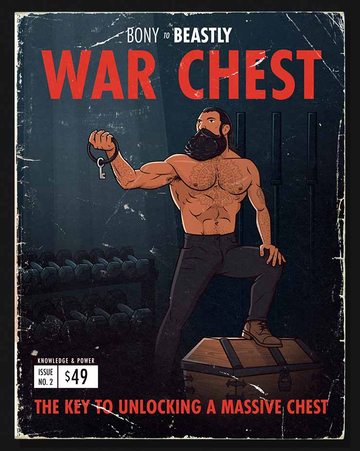 Cover illustration of the war chest bulking program.