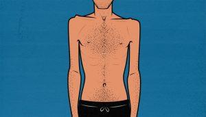 Illustration showing a skinny man.