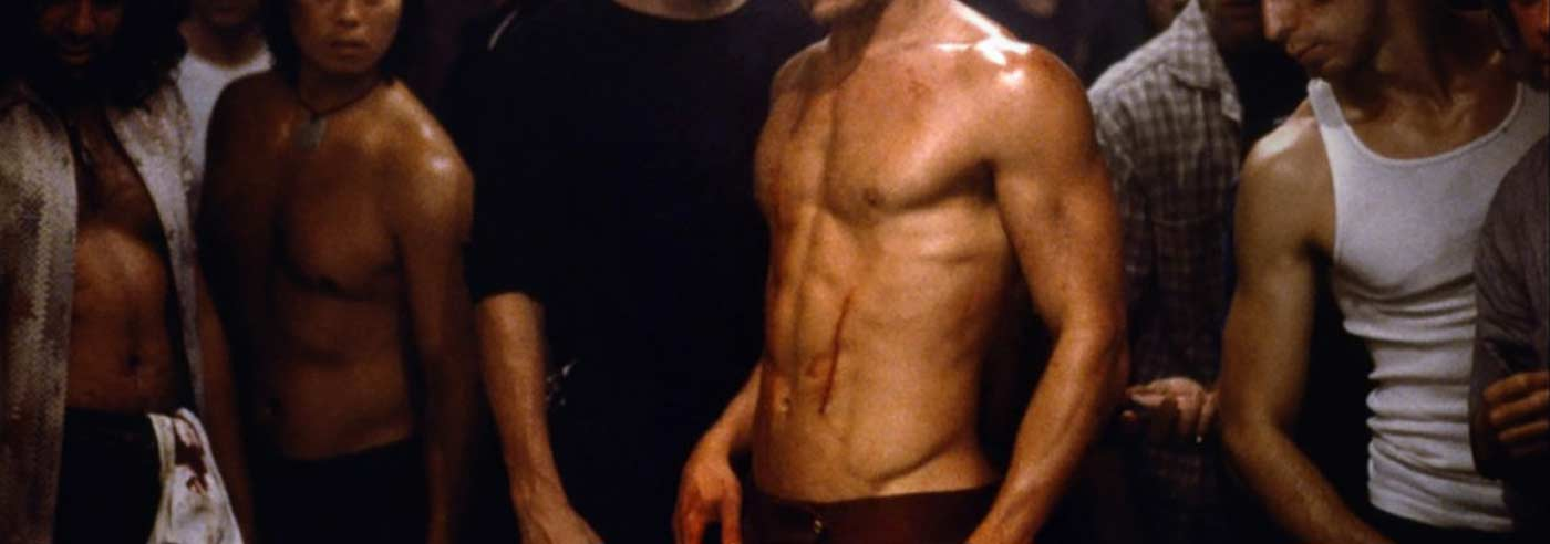 Photo showing Brad Pitt's physique in Fight Club.