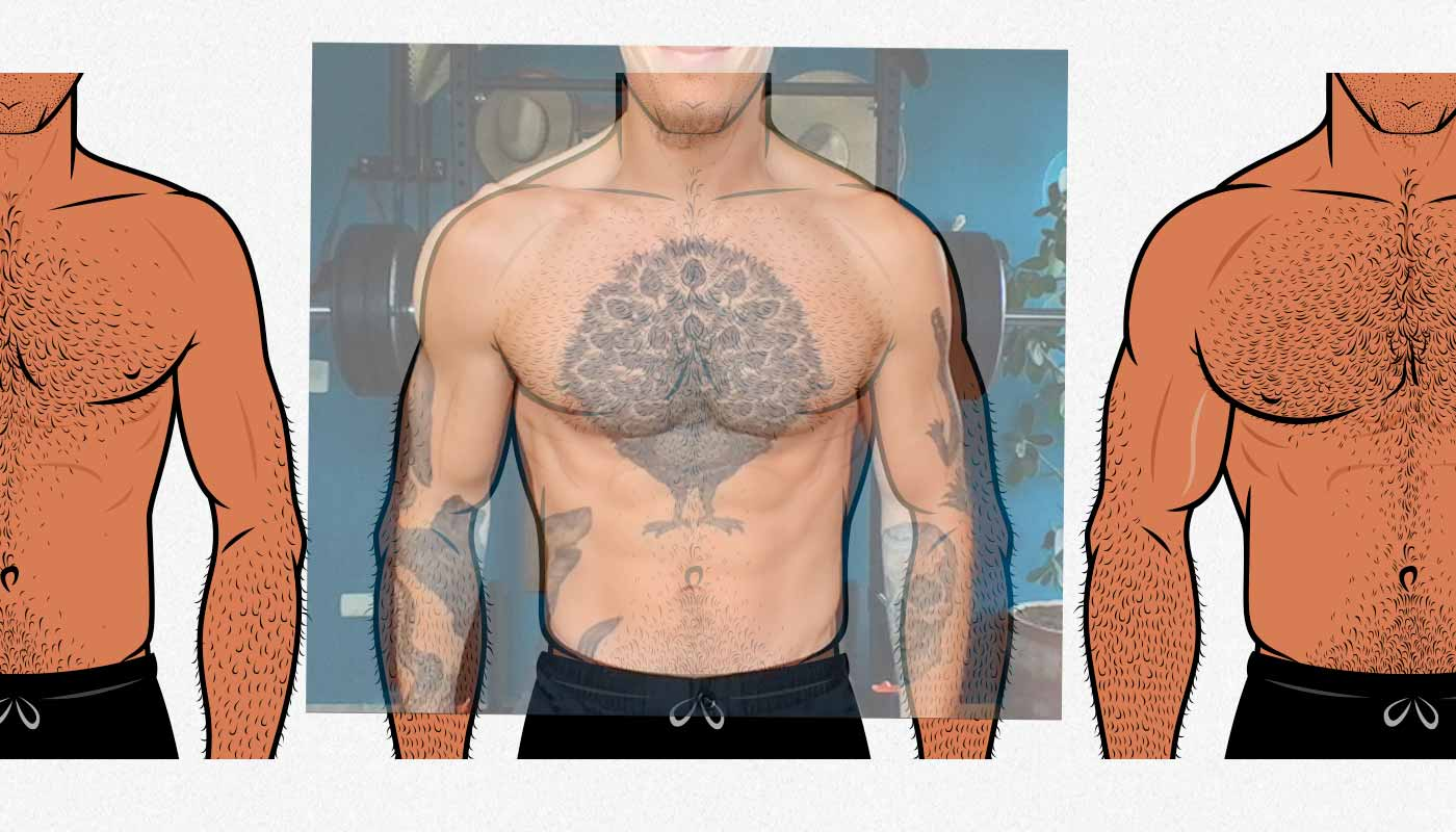 """Photo of Shane Duquette superimposed on the """"strong"""" body type."""